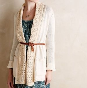 Anthro Angel Of The North Evenie Chenille Cardigan